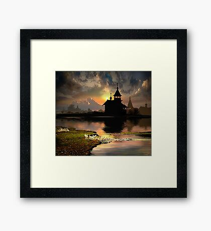 Evening Silhouettes Framed Print