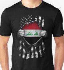Iraqi American Flag USA Iraq Unisex T-Shirt