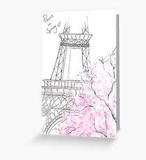 Paris in Spring Greeting Card
