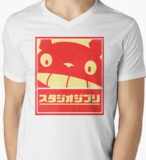 Ghibli Men's V-Neck T-Shirt