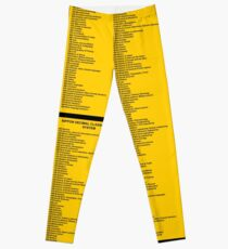 Library Sign - Nippon Decimal Classification System Leggings