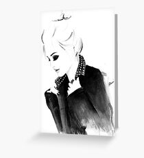 Punky Topknot Greeting Card