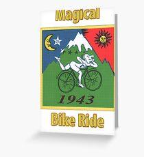 Magical bike ride lsd Greeting Card