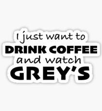 Grey's and Coffee Sticker