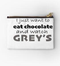 Bolso de mano Grises y chocolate