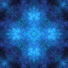 Nebulous Mandala in Blue by Lyle Hatch