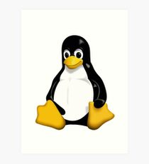 Linux Penguin Art Print