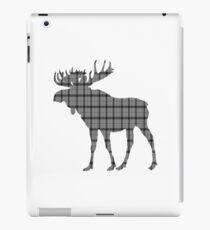 Moose: Grey Plaid iPad Case/Skin