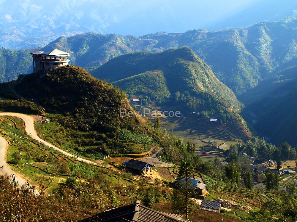 Mountains near Sapa, North Vietnam by Bev Pascoe