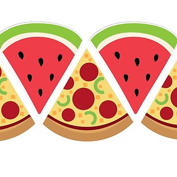 Watermelon/Pizza Triangle Pattern by Shelbionic