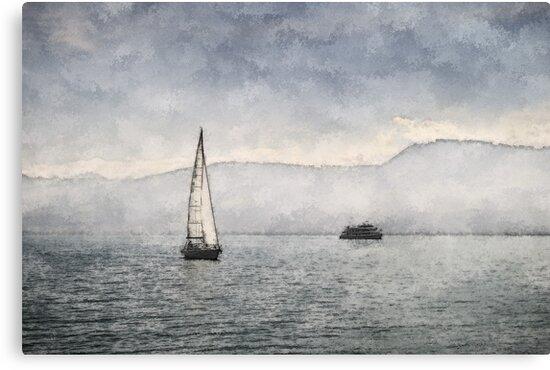 Lake Zurich, Switzerland by Ted Lansing