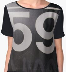 Number, Building, Technopunk, Steampunk, Cyberpunk Chiffon Top