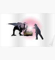 T-Rex vs Alan Grant Poster