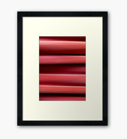 It comes over me in waves Framed Print