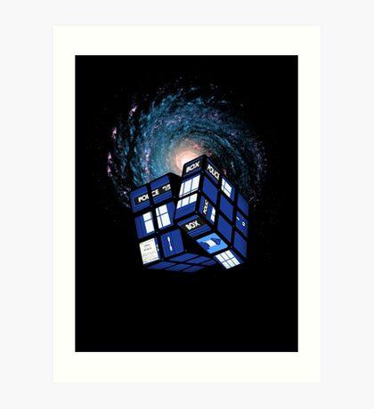 TARDIS CUBE Art Print