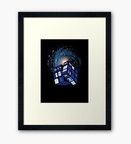 TARDIS CUBE Framed Print