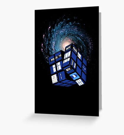 TARDIS CUBE Greeting Card