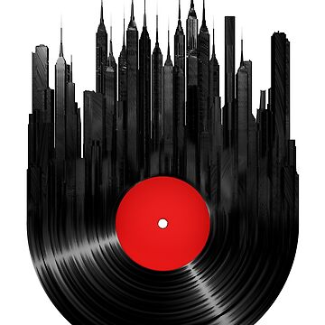 Red Dot vinyl music & City Scape by ssduckman