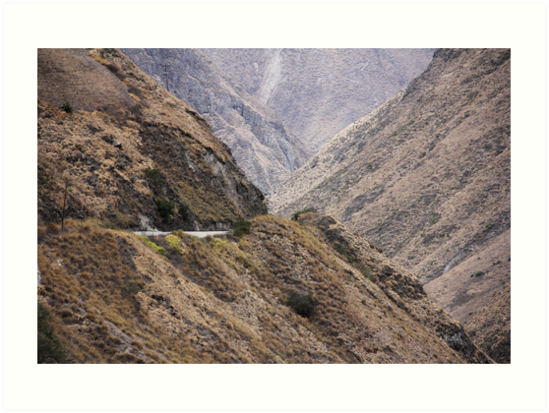 Intersection of valleys, mountains and hillsides near Alausi, Ecuador by Kendall Anderson