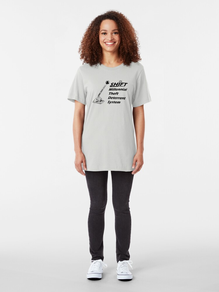 Alternate view of Shift Shirts Theft Deterrent - Manual Transmission Slim Fit T-Shirt