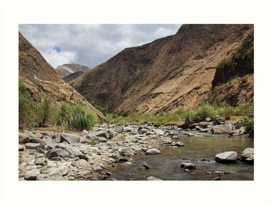 Mountain valley with river, Sibambe, Ecuador by Kendall Anderson