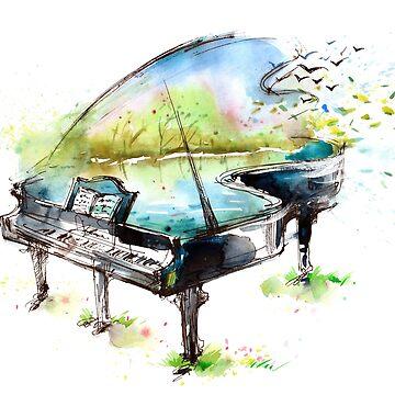 Watercolor Piano by ssduckman