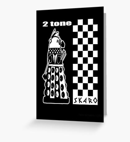 Two Tone Dalek Greeting Card