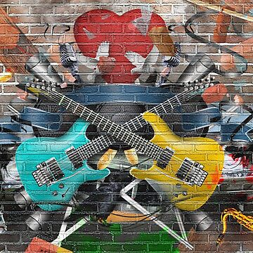 Guitars and Bricks by ssduckman