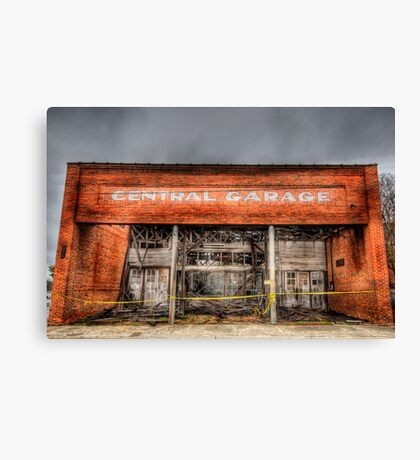 Central Garage Canvas Print