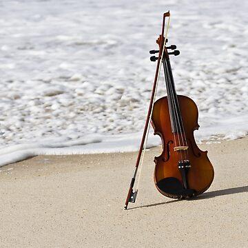 Violin and Ocean by ssduckman