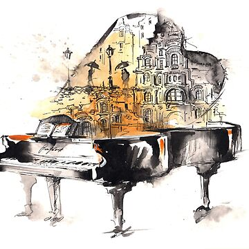 Piano and city by ssduckman
