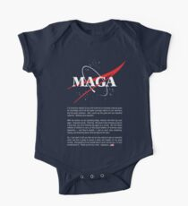 NASA MAGA Official Executive order except text - Make America Great Again Space Race One Piece - Short Sleeve