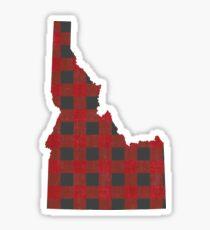 Idaho Plaid in Rot Sticker