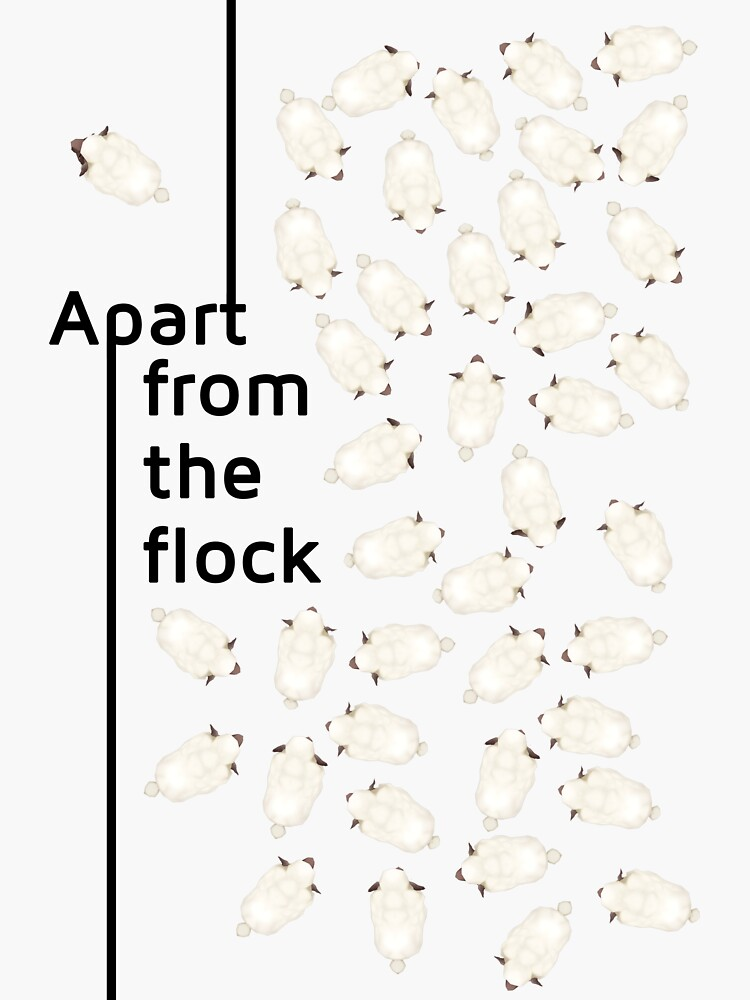 Apart from the flock by trickyelf