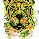 Shar Pei Dog by Beverlytazangel