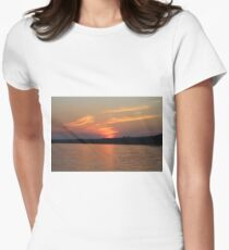 Sunset Over Lake Waccamaw 4 Women's Fitted T-Shirt