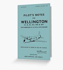 Tarjeta de felicitación Vickers Wellington