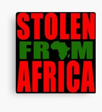 Stolen from Africa - Red Black and Green Flag Canvas Print