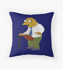 Man Getting Hit by Football Throw Pillow