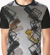 Wine bottles, Shelf, Building, Technopunk, Steampunk, Cyberpunk Graphic T-Shirt
