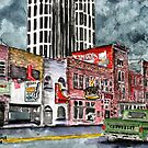 Nashville Tennessee country music art by derekmccrea