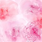 Pink Watercolor Roses Artwork by hdwrittenaloha