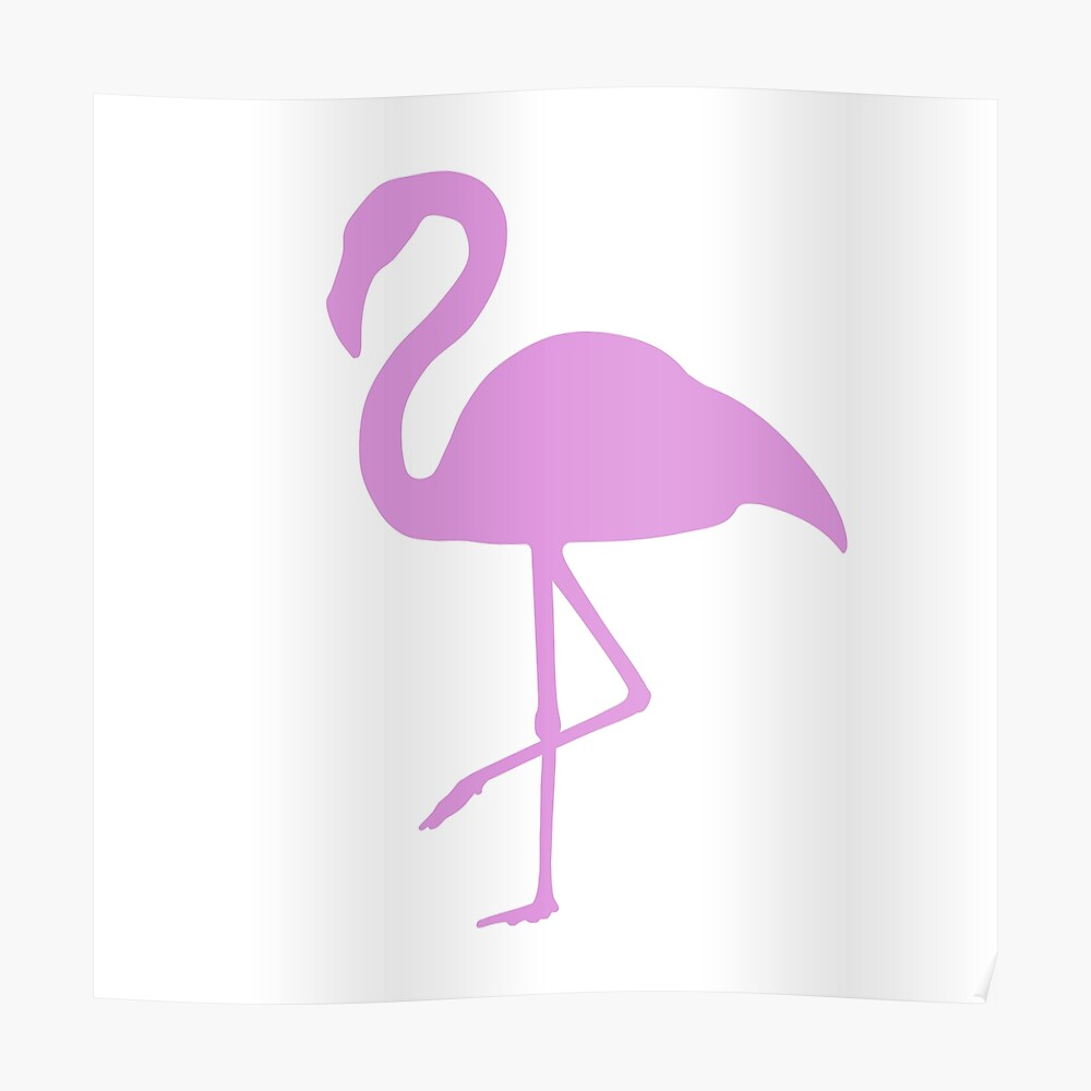 """Simple Flamingo"" Poster by Danvrick 