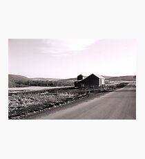 Desolate Barn Photographic Print