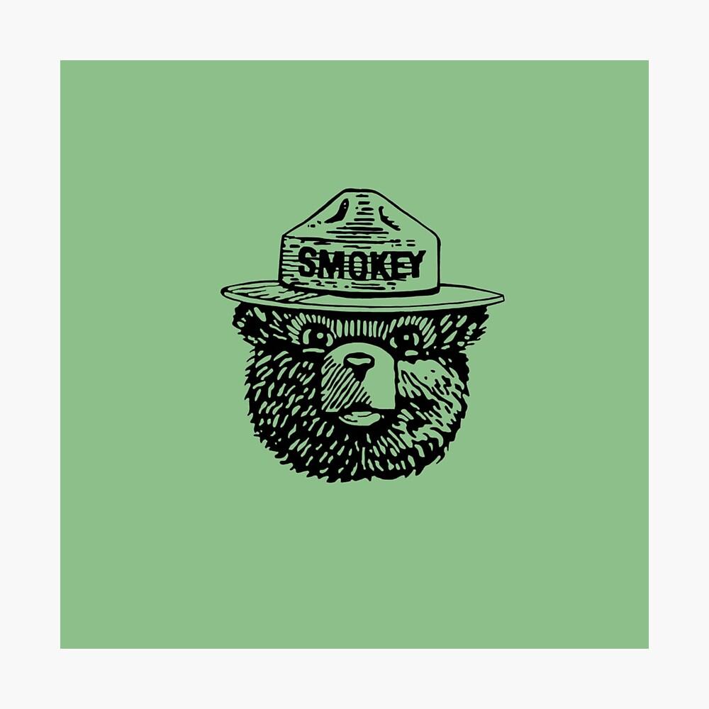 Smokey Blanco y Negro Lámina fotográfica