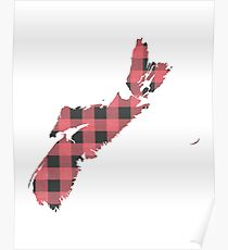 Nova Scotia Plaid in Pink Poster