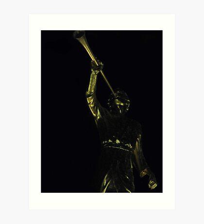 Golden Statue Art Print