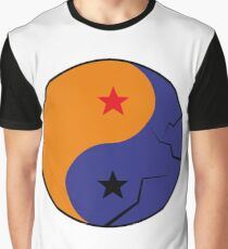 Ying Yang Dragon Ball Graphic T-Shirt
