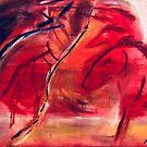 Horses in Red by veronica j. k.