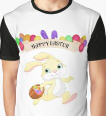 Happy Easter Bunny Delivers Eggs Graphic T-Shirt